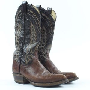 Vintage Tony Lama Cowboy Western Leather Boots.